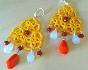 Cotton handmade earring