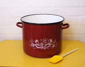 Large vintage enamel pan