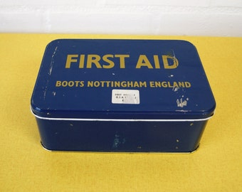 Vintage Boots First Aid tin