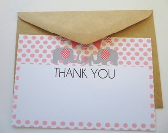 Flat Thank you cards x 35