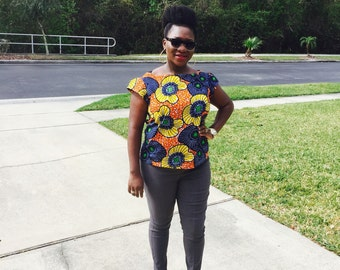 African Clothing, African Print Shirt.