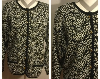 1970's Hastings and Smith Patterned Cardigan