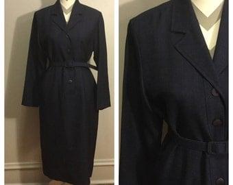 1950s Henry lee navy dress