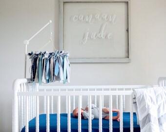 Baby Mobile, Baby Ribbon & fabric Mobile, baby  mobiles hanging, crib mobile, nursery