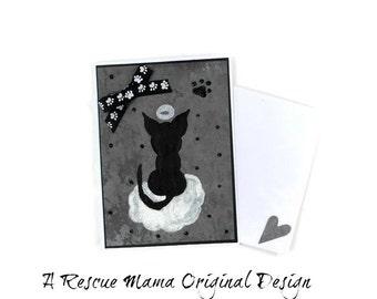 Cat Condolences Card - Sympathy Card - Cat Sympathy Card - Cat Bereavement Card - Handmade Sympathy Card - Loss of Pet Card - Loss of a Cat