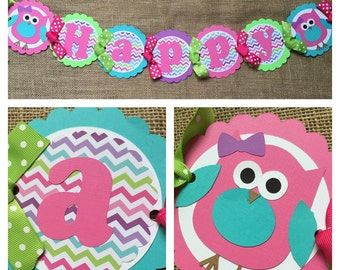 Owl Birthday Banner, Owl Party Banner, Owl Party, Owl Party Decoration, Owl Birthday Decorations, Owl Birthday Party, Fall Birthday