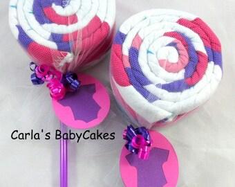 Receiving blanket lollipop | Baby shower gift | Baby shower decoration | New baby gift | Unique baby gift | Blanket lollipop | New mom gift