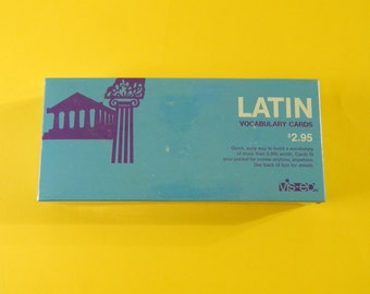 1000 Latin Vocabulary Cards Vis-Ed VE517 Sealed Box Home School - Self Help