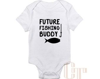 Fishing buddy shirt etsy for Fishing shirt onesie