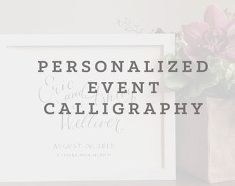 Personalized Event Calligraphy
