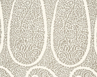 Ambala Paisley in Oyster by Schumacher , choice of size with coordinating backing
