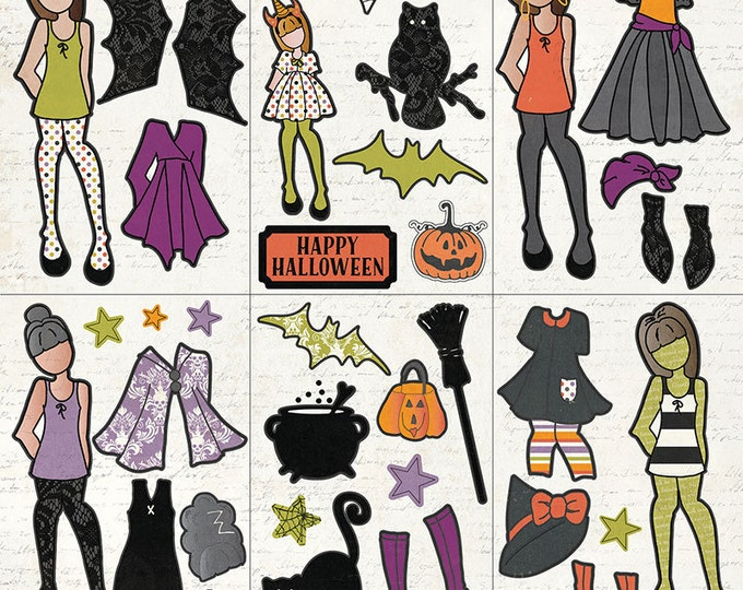 Photo Play BOOTIFUL Halloween Theme Scrapbook Ephemera Pack