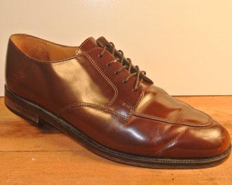 Cole Haan Brown Split Toe Blucher Derby Men's Size: 9.5D