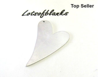 Heart Blanks with hole /20G Blanks//Stamping blanks//Metal blanks//Tumbled blanks//Hand Stamping Supplies//pre punched blanks