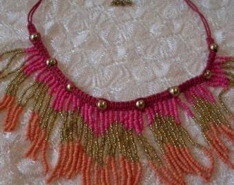 Lovely Bohemain Gypsy Beaded Necklace  Newburystreetchic  Collectibles We Ship Internationally