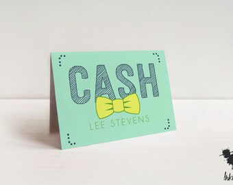 Bow Tie Stationery (10 Folded Cards)
