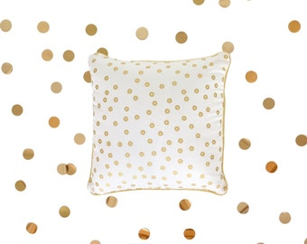 White and Golden cushion - Handmade in France