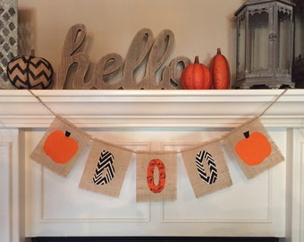 Burlap Halloween Boo Banner