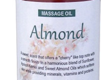 Almond Massage Oil 8 fl oz (240 ml) with Lock Pump