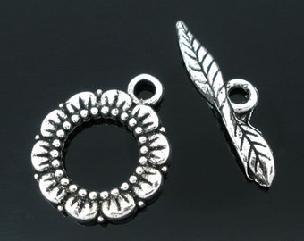 20mm Flower Toggle Clasp