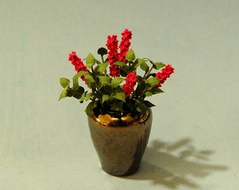 1 inch scale miniature-Lilacs in a Vase