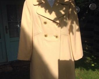 Lemon Sherbert vintage 60's wool coat