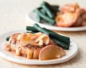 1:6 miniature - Apple Pork Chops, Green Beans