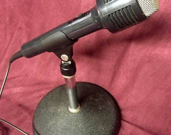 Vintage Realistic Microphone with Stand - Highball 7