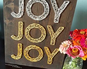 MADE TO ORDER String Art Joy Joy Joy Sign