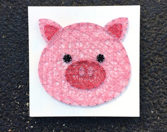 MADE TO ORDER String Art Pig Face Sign