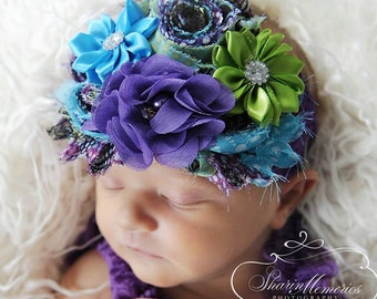 Purple Headband/Baby Headband/Baby Headbands and Bows/Infant Headband/Baby Girl Headband/Girl Headband Baby/Toddler Headband/Baby Romper