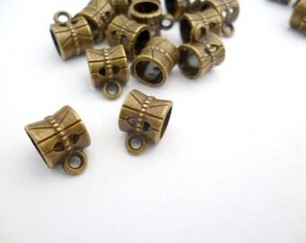 100 pcs Brass Bail Pendant_S036ik0001BP_Brass Supplies_pack_100 pcs_of 6 X 6 mm_0/4 X 0/4 IN_INSIDE_5 MM _0/3 in