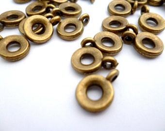 Brass Bail Pendant_S036ik0001BP_Brass Supplies_pack_80 pcs_of 7 mm_0/4  IN_INSIDE_3 MM _0/2 in