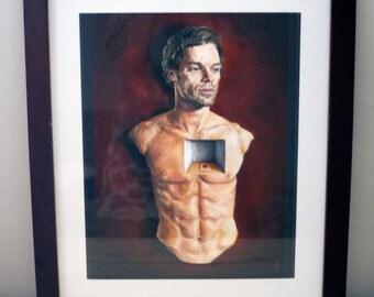 Dexter portrait - Original oil painting