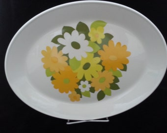 Johnson Bros Snowhite Kerrydale Platter Floral 1970s 12 inch made in England