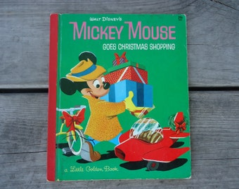 Mickey Mouse Goes Christmas Shopping Book 1953