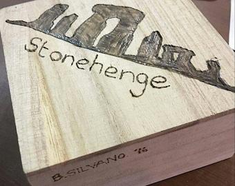 Hand Engraved Stonehenge Trinket Box