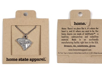 South Carolina Necklace - Home State Apparel South Carolina Home Necklace Charm, SC