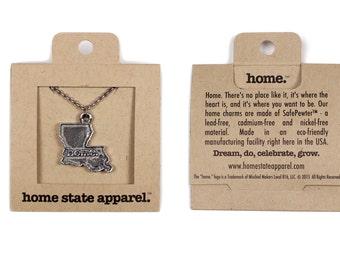 Louisiana Necklace - Home State Apparel Louisiana Home Necklace Charm, LA