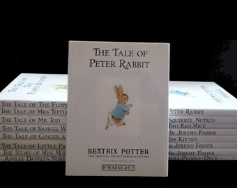 Vintage Beatrix Potter Books, Excellent Condition 1980s Animal Stories, Peter Rabbit, Jeremy Fisher, Squirrel, Classic Children's Literature