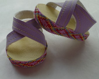 """18""""  Doll Sandals -Lavender  Doll Sandals-Shown on my american girl doll"""