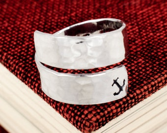 I Refuse to Sink Wrap Ring - Affirmation Ring - Twist Ring - Adjustable Ring