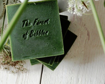 Spirulina Algae Soap helps to fight wrinkles and age, vegan,eco friendly, cold process