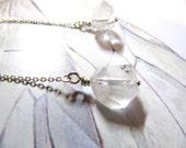 Albireo: star hollandite quartz and sterling silver earrings