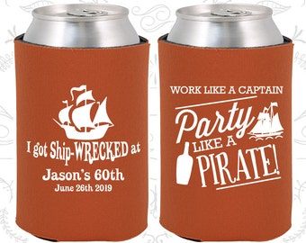 60th Birthday, 60th Birthday Favors, Customized Party Gifts, Party like a Pirate, Pirate Birthday Favors, Party Favors (20284)