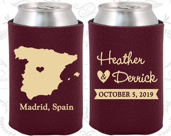 Spain Wedding Gifts, Coolies, Destination Wedding Favors, Spain Favors, Madrid Save the Date (192)