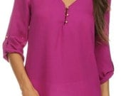 Kennedy Gold Button Detail Blouse