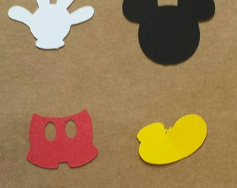 Mickey Mouse confetti, custom colors available