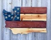 Recycled Pallet Washington American Flag