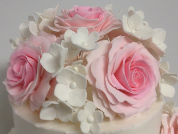 sugar flower wedding cake toppers items similar to wedding cake topper bouquet of roses 20579